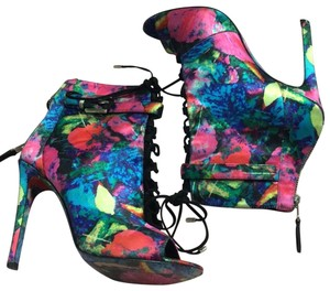 Brian Atwood pink, blue green, Boots