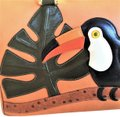 SALUTI Toucan Handbag Animal Baguette