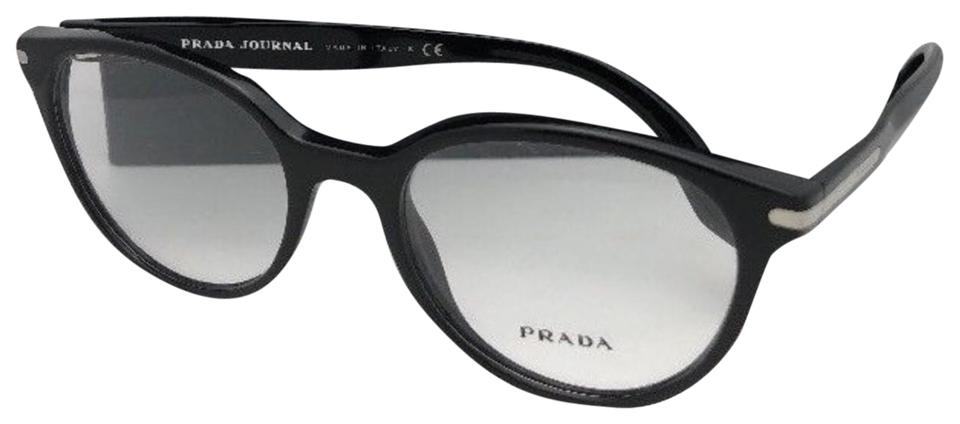 c769cb1794df Prada New PRADA JOURNAL Edition Eyeglasses VPR 07T 1AB-1O1 52-19 140 Black  ...