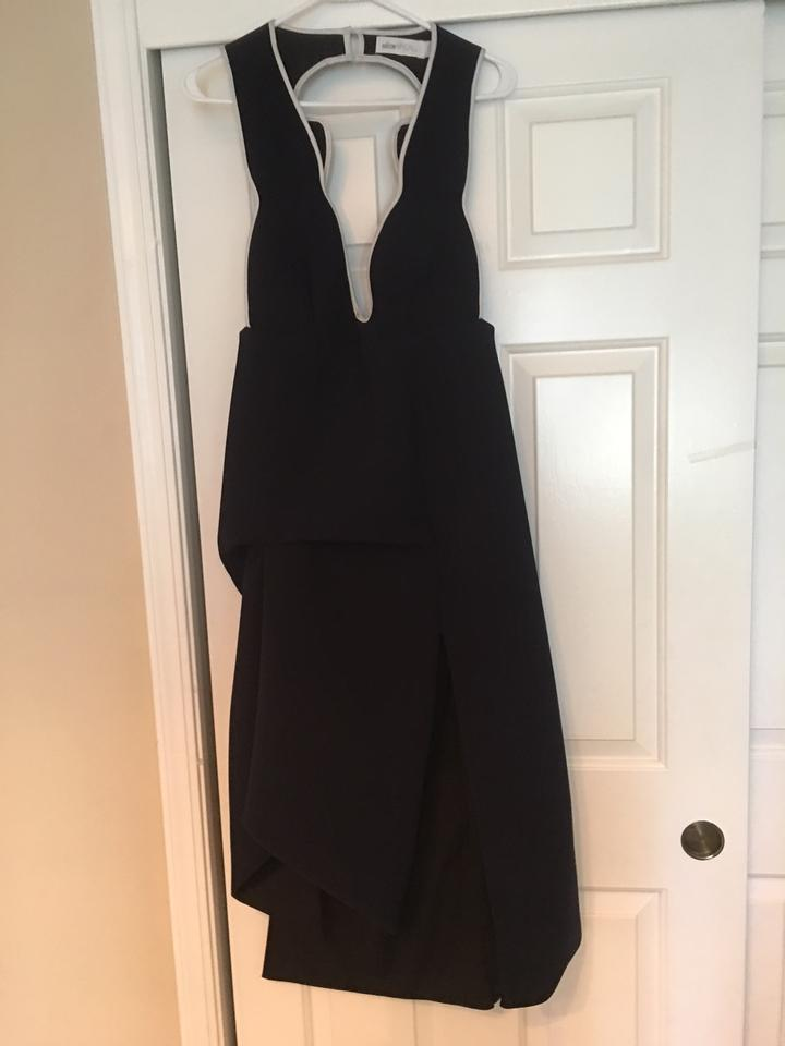 Alice Mccall Black Wish You Were Here Mid Length Cocktail Dress Size