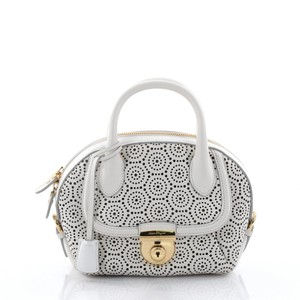 Salvatore Ferragamo Fiamma Satchel in White