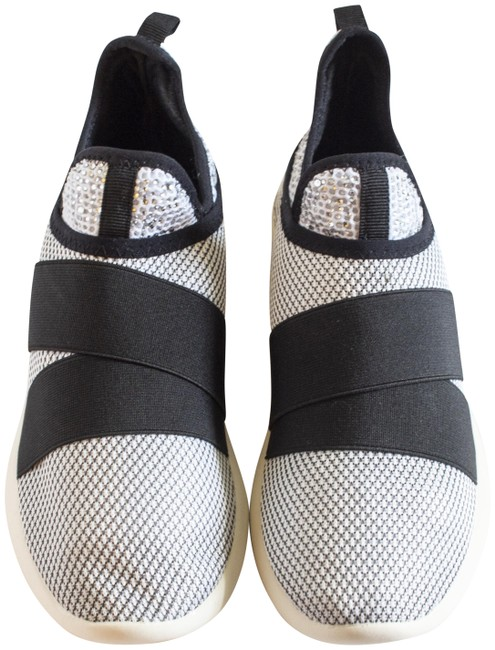 Item - Black White Jiffy Sneakers Size US 7 Regular (M, B)