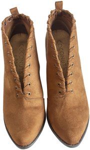 Coconuts by Matisse Suede Fall Open Wedge Saddle Boots