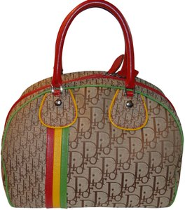 Dior Rasta Satchel in Brown, Red, Yellow, Green
