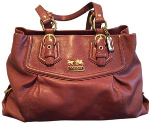 Coach Tote in Chestnut