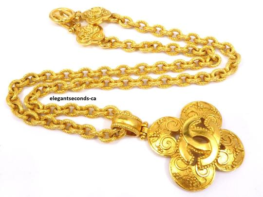 Chanel Auth. Vintage Chanel Gold Plated Necklace Image 6