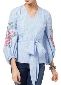 INC International Concepts Top Blue and white / striped