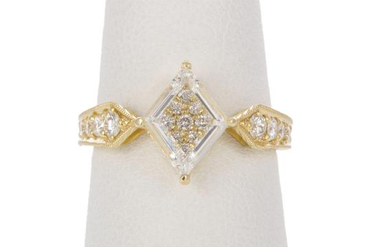 Unknown 18k Yellow Gold & Portrait Cut Diamond Fashion Ring Image 3