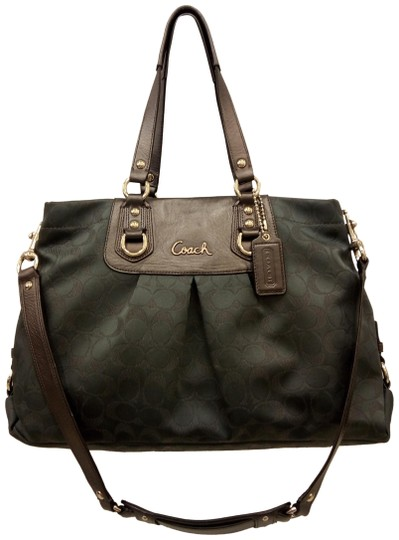 Preload https://img-static.tradesy.com/item/23588736/coach-1941-charcoal-metallic-dark-ashley-carryall-tote-shoulder-gray-canvas-and-leather-satchel-0-1-540-540.jpg