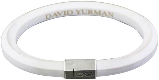 David Yurman Rubber Hex Silver Bracelet