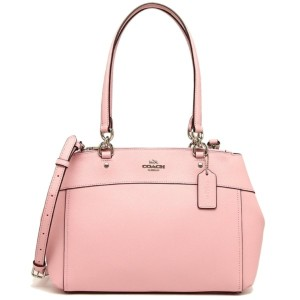 Coach Zip Top Shoulder Classic Leather Tote in Blush Pink