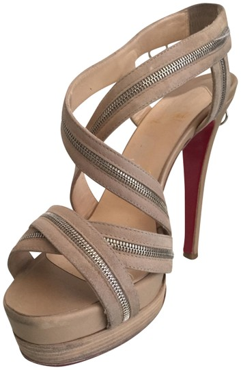 Preload https://img-static.tradesy.com/item/23588830/christian-louboutin-beige-calf-leather-and-suede-trailer-140-sandals-platforms-size-eu-375-approx-us-0-1-540-540.jpg