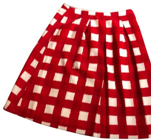 The Limited Skirt red and white