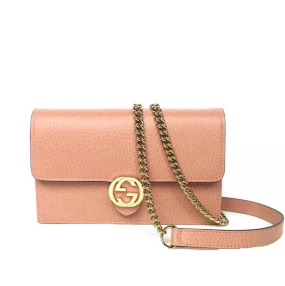 d5c5ef647 Gucci Chain Wallet Icon Gg Pink Leather Cross Body Bag - Tradesy