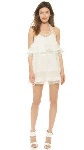 J.O.A. short dress White Joa Halter Offshoulder on Tradesy