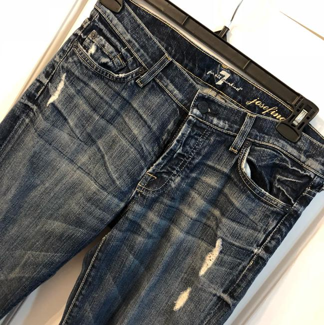 7 For All Mankind Straight Leg Jeans-Distressed Image 1