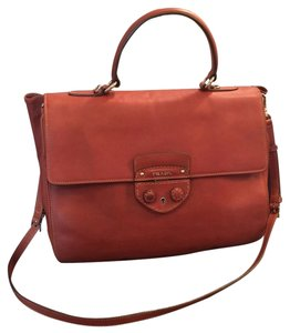 Prada Satchel Leather Calfskin Cross Body Bag