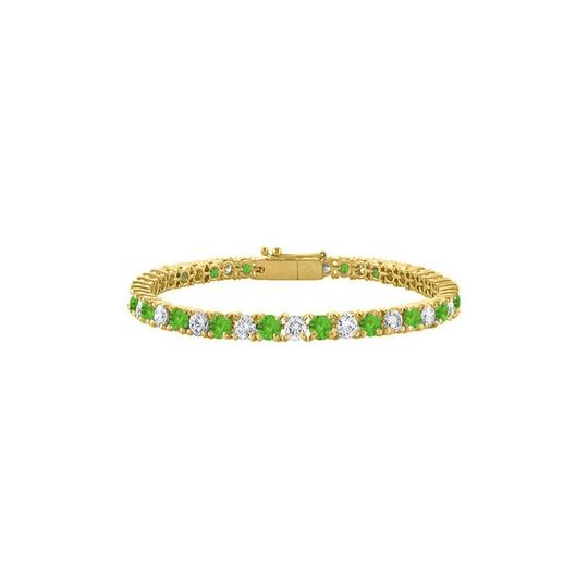 Preload https://img-static.tradesy.com/item/23589129/green-designer-cz-peridot-tennis-yellow-vermeil-5-ct-tgw-7-bracelet-0-0-540-540.jpg