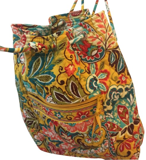 Preload https://img-static.tradesy.com/item/23589131/vera-bradley-bucket-bag-drawstring-iconic-ditty-provencal-yellow-paisley-flower-cotton-backpack-0-2-540-540.jpg