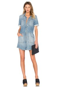 GRLFRND short dress Light Denim wash Denimdress Shirtdress on Tradesy