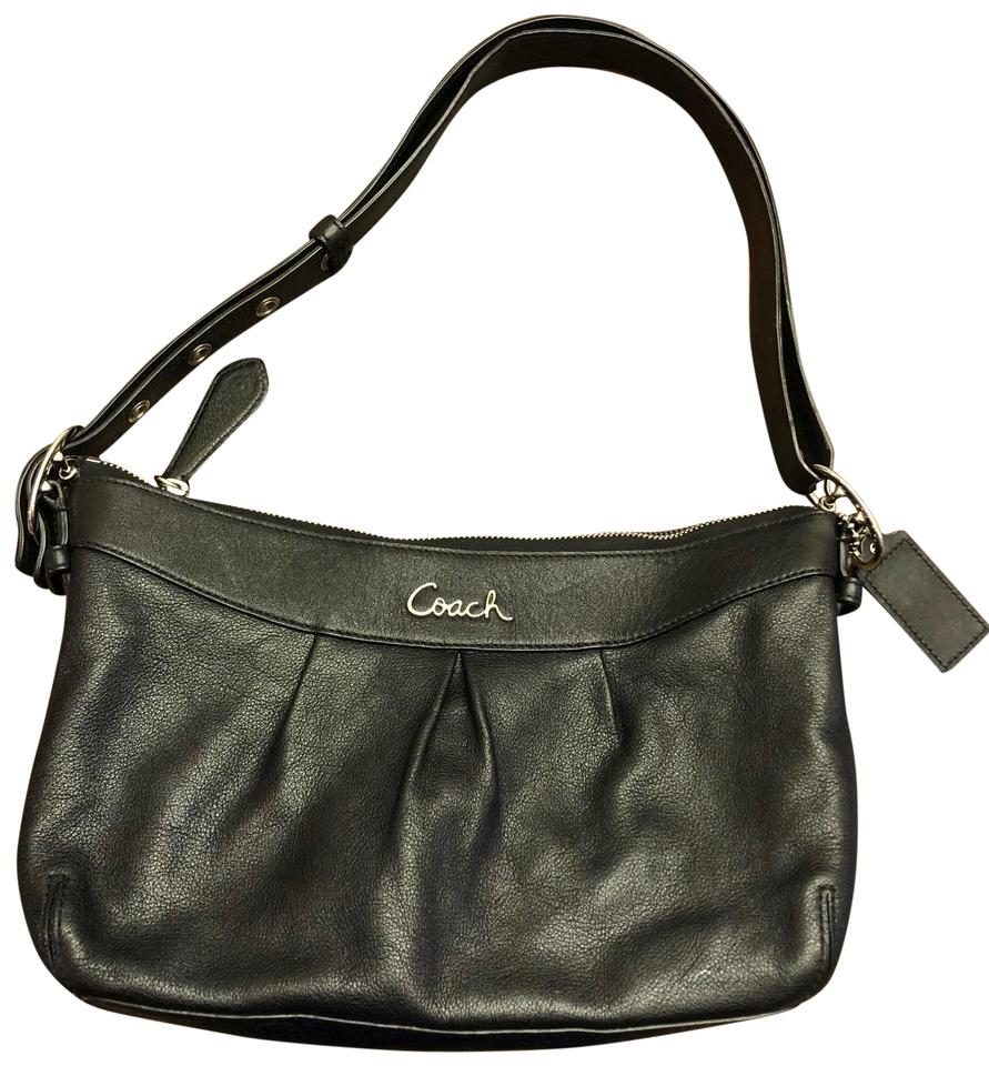 Coach Small Adjustable Strap Black Leather Shoulder Bag 370e7366121e0