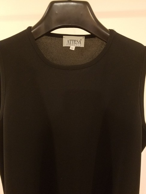 Attesa Designer Women Xs Size 2 Sleeveless Summer Wear Top Black Image 1