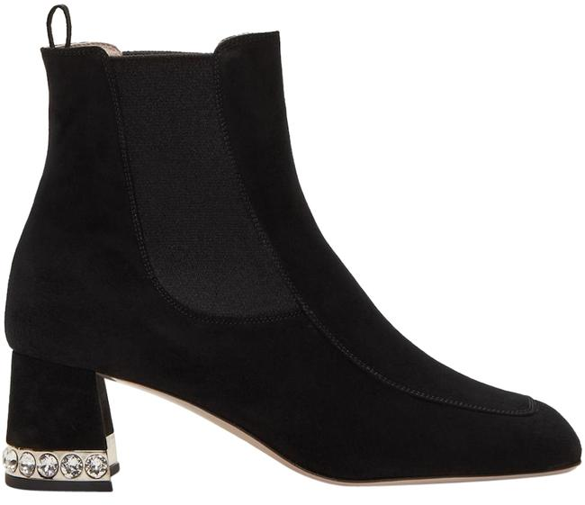 Item - Black Suede Crystal Ankle Boots/Booties Size EU 39 (Approx. US 9) Regular (M, B)