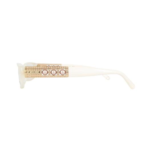 Moschino New Moschino white Eyeglasses Rx Glasses Made in Italy MO061-02 52mm Image 2
