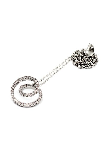 Ocean Fashion Fashion screw crystal silver necklace earrings sets Image 1