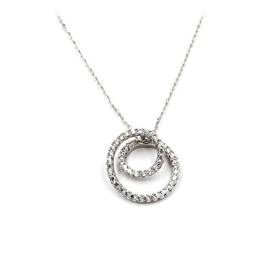 Ocean Fashion Fashion screw crystal silver necklace earrings sets Image 4