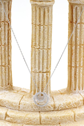 Ocean Fashion Fashion screw crystal silver necklace earrings sets Image 5
