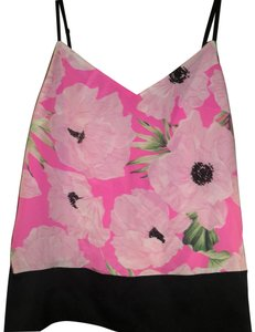 French Connection Top black with pink floral
