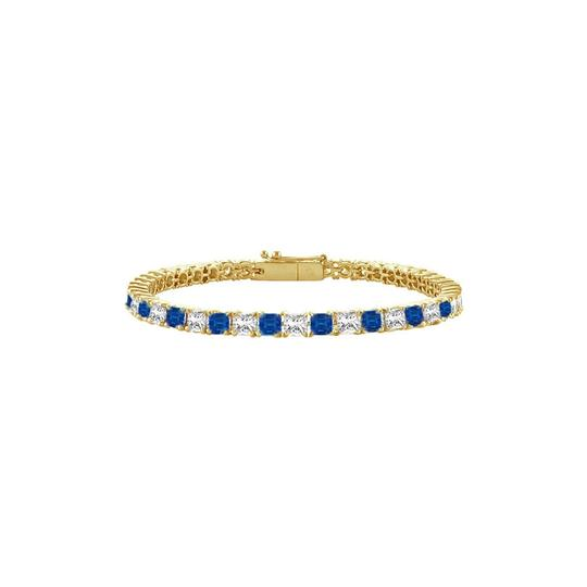 Preload https://img-static.tradesy.com/item/23589396/blue-created-sapphire-and-cz-tennis-300-ct-tgw-on-yellow-vermeil-bracelet-0-0-540-540.jpg