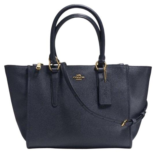 Preload https://img-static.tradesy.com/item/23589403/coach-crosby-carryall-midnight-navy-leather-satchel-0-1-540-540.jpg