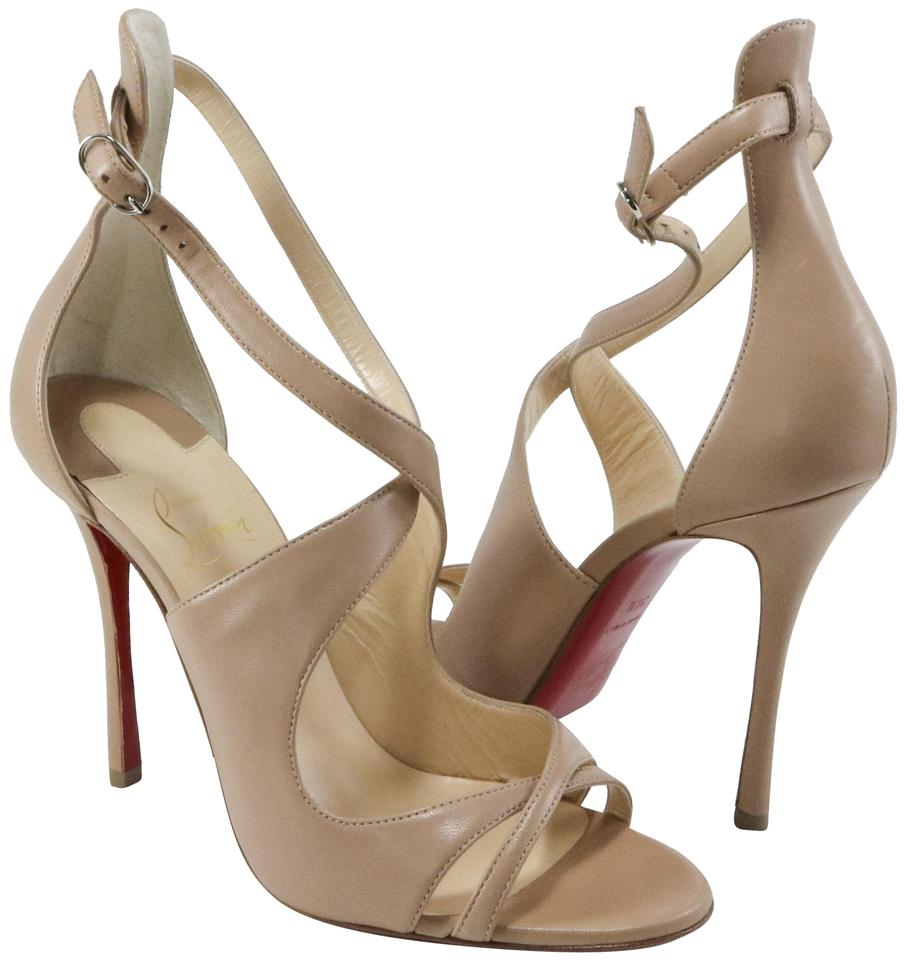 Christian 100mm Louboutin Nude Malefissima 100mm Christian Strappy Heels A757 Sandals fc80a7