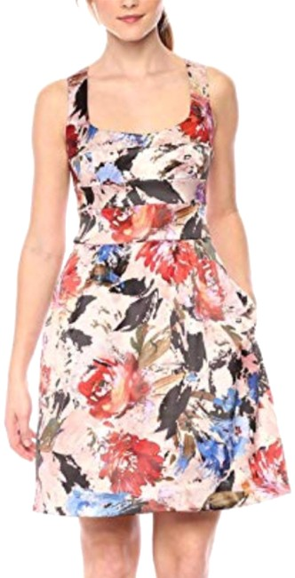 Item - Multicolor Printed Fit N Flare Short Cocktail Dress Size 2 (XS)