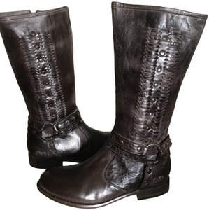 Bed Stü Leather Calf Height D. Brown Boots