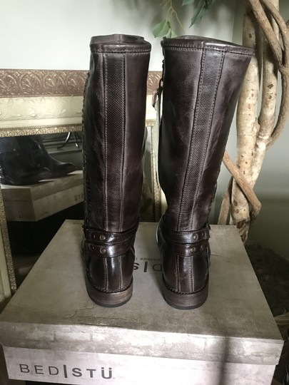 Bed Stü Leather Calf Height D. Brown Boots Image 2