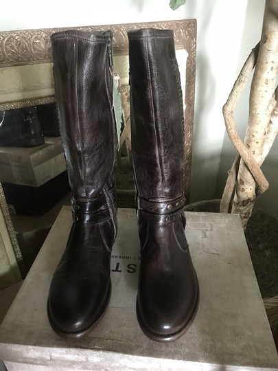 Bed Stü Leather Calf Height D. Brown Boots Image 3
