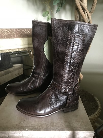 Bed Stü Leather Calf Height D. Brown Boots Image 4