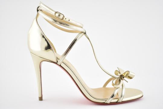 Christian Louboutin Ankle Patent Blakissima Ankle Strap Pigalle gold Pumps Image 1