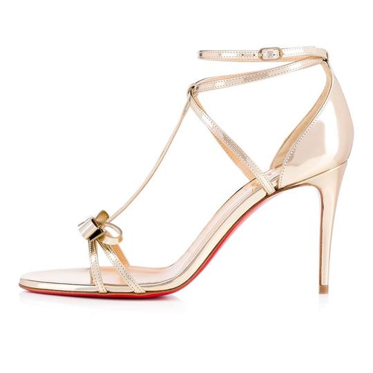 Christian Louboutin Ankle Patent Blakissima Ankle Strap Pigalle gold Pumps Image 2