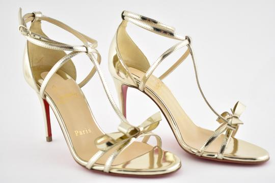 Christian Louboutin Ankle Patent Blakissima Ankle Strap Pigalle gold Pumps Image 3