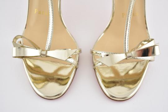 Christian Louboutin Ankle Patent Blakissima Ankle Strap Pigalle gold Pumps Image 6