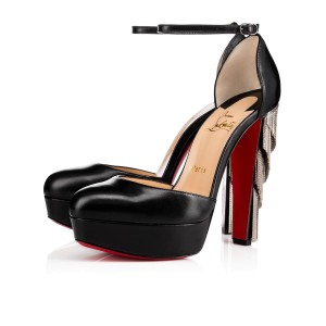 Christian Louboutin Stiletto Platform Feerie Ankle Ankle Strap black Pumps