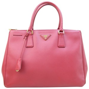 Prada Saffiano Calfskin Medium Tote in red