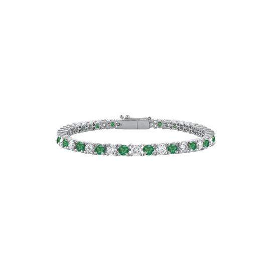 Preload https://img-static.tradesy.com/item/23589870/green-designer-sterling-silver-round-frosted-emerald-cz-tennis-ct-bracelet-0-0-540-540.jpg