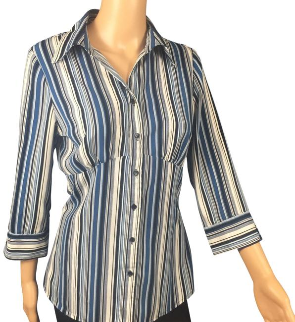 Preload https://img-static.tradesy.com/item/23589905/fred-david-blue-and-white-striped-shirt-button-down-top-size-4-s-0-1-650-650.jpg