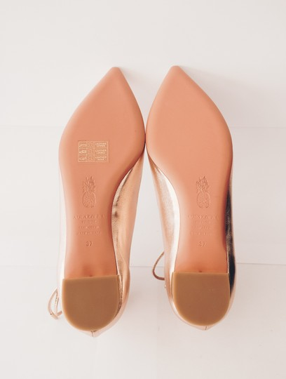 Aquazzura Pointed Toe Pointed Toe Rose Gold Flats Image 3