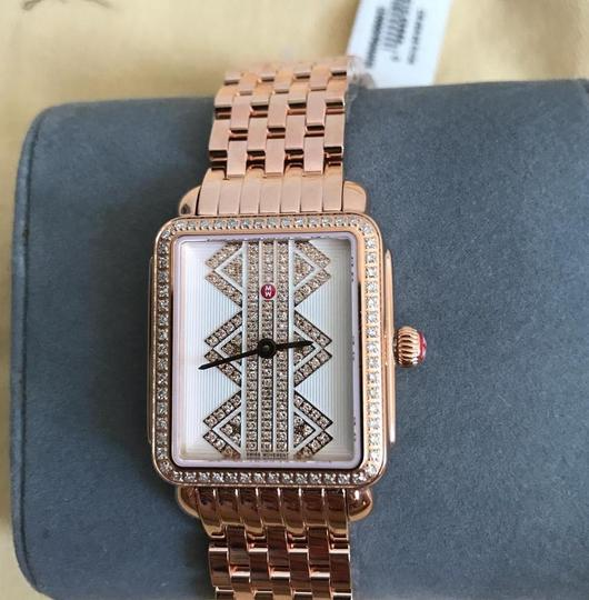 Michele (Rosegold/Silver/White) Deco Ll Mid Pattern Diamond Dial Watch Image 1